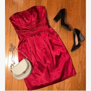 Gorgeous, red, cocktail/bridesmaid dress!